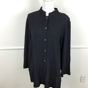 Eileen Fisher Blue Long Sleeve Tunic Womens Large